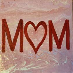 love you.. mom, 8 x 6 inch, neha upadhye,8x6inch,canvas,paintings,abstract paintings,modern art paintings,art deco paintings,minimalist paintings,acrylic color,GAL02508736581