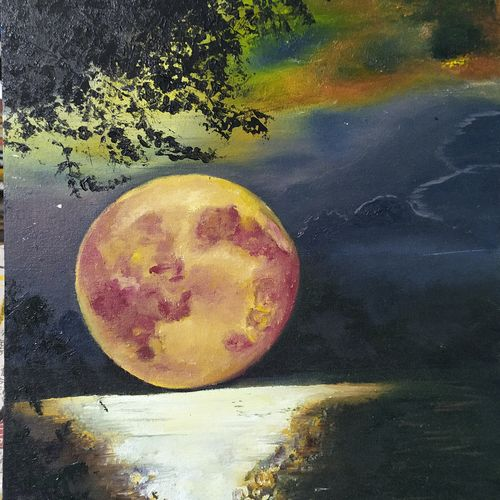themoon, 16 x 20 inch, shivani srivastava,16x20inch,canvas board,portrait paintings,nature paintings | scenery paintings,paintings for dining room,paintings for living room,paintings for bedroom,paintings for office,paintings for kids room,paintings for school,paintings for hospital,paintings for dining room,paintings for living room,paintings for bedroom,paintings for office,paintings for kids room,paintings for school,paintings for hospital,oil color,GAL02413736592