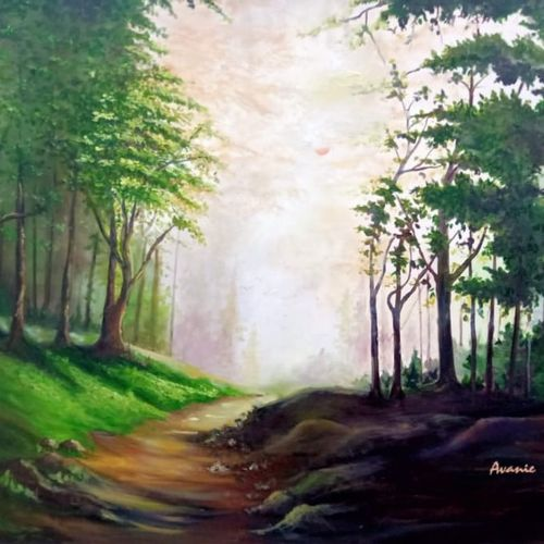 landscape paintings,nature paintings, 40 x 30 inch, avani verma,40x30inch,canvas,paintings,landscape paintings,paintings for dining room,paintings for living room,paintings for bedroom,paintings for office,paintings for bathroom,paintings for hotel,paintings for hospital,oil color,GAL02513036611