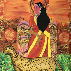 indian princess, 30 x 36 inch, madhu dhir,30x36inch,canvas,paintings,acrylic color,GAL02049136613