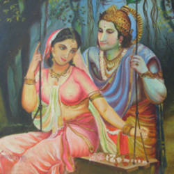 radha krushan lila, 25 x 21 inch, anand vedpathak,25x21inch,canvas,religious paintings,paintings for living room,paintings for hotel,paintings for living room,paintings for hotel,oil color,GAL02513836614