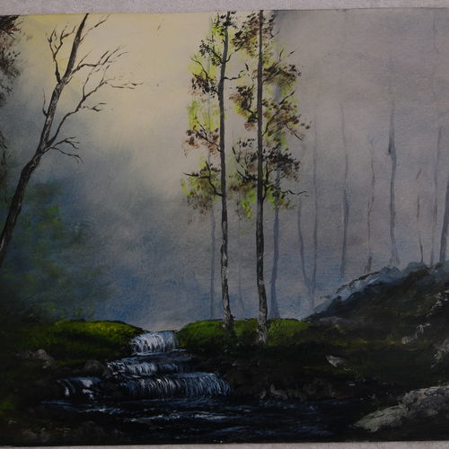 misty forest, 24 x 18 inch, mohanish rao,24x18inch,oil sheet,paintings,nature paintings | scenery paintings,paintings for dining room,paintings for living room,paintings for bedroom,paintings for office,paintings for bathroom,paintings for kids room,paintings for hotel,paintings for kitchen,paintings for school,paintings for hospital,oil color,GAL02214136617