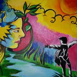 a mother's love waiting for her lost child, 16 x 20 inch, popo singh,paintings for dining room,figurative paintings,modern art paintings,canvas,watercolor,16x20inch,GAL013293663