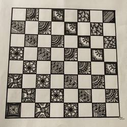 chess board, 13 x 10 inch, sravya varada,13x10inch,paper,drawings,conceptual drawings,paintings for living room,paintings for kids room,ink color,pen color,paper,GAL02516036658