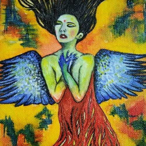 the eve iv, 5 x 7 inch, salisalima ratha,5x7inch,canvas,paintings,contemporary paintings,paintings for dining room,paintings for living room,paintings for bedroom,paintings for office,paintings for hotel,paintings for school,watercolor,GAL02519836684