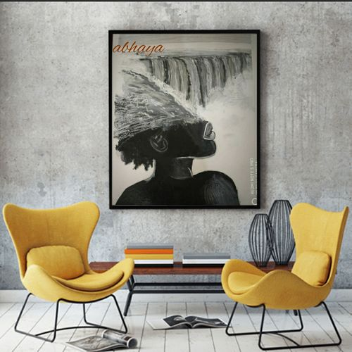r_abha's abstract and creative art..the niagara falls and black beauty, 14 x 18 inch, abhaya renuse,14x18inch,drawing paper,paintings,abstract paintings,landscape paintings,modern art paintings,conceptual paintings,abstract expressionism paintings,realism paintings,realistic paintings,water fountain paintings,paintings for dining room,paintings for living room,paintings for bedroom,paintings for office,paintings for bathroom,paintings for kids room,paintings for hotel,paintings for school,paintings for hospital,acrylic color,pastel color,pencil color,GAL02265936693