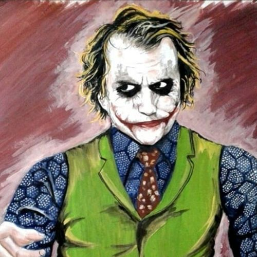 the joker, 15 x 22 inch, sourabh karikatti,15x22inch,thick paper,paintings,portrait paintings,paintings for living room,paintings for bedroom,paintings for living room,paintings for bedroom,poster color,paper,GAL02521436709