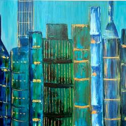 sky is the limit, 24 x 36 inch, nidhi gupta,24x36inch,canvas,paintings,abstract paintings,paintings for living room,paintings for office,paintings for hotel,paintings for school,paintings for hospital,oil color,GAL02487936727
