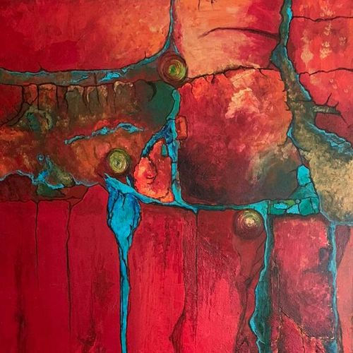 warm red , 24 x 48 inch, nidhi gupta,24x48inch,canvas,paintings,contemporary paintings,paintings for dining room,paintings for office,paintings for hotel,paintings for kitchen,paintings for school,acrylic color,GAL02487936731