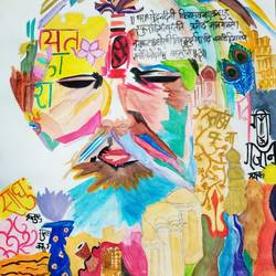 sadhu, 11 x 16 inch, aashna nagar,11x16inch,drawing paper,religious paintings,acrylic color,watercolor,paper,GAL02526536735