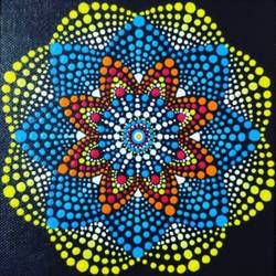 mandala dot art, 12 x 16 inch, pallavi borse,12x16inch,canvas board,paintings,modern art paintings,portrait paintings,paintings for dining room,paintings for living room,paintings for office,paintings for bathroom,paintings for kids room,paintings for hotel,paintings for kitchen,paintings for school,paintings for hospital,acrylic color,oil color,GAL02525336756