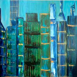 high aspirations, 24 x 36 inch, nidhi gupta,24x36inch,canvas,paintings,cityscape paintings,paintings for dining room,paintings for living room,paintings for bedroom,paintings for office,paintings for kids room,paintings for hotel,paintings for school,paintings for hospital,oil color,GAL02487936762