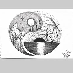 earth beauty , 11 x 14 inch, prakrati  mathur,11x14inch,drawing paper,drawings,conceptual drawings,fine art drawings,photo ink,paper,GAL02505836765