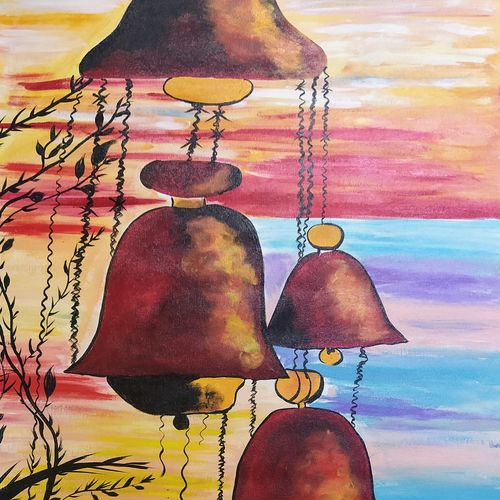 d bell, 25 x 31 inch, rony sinha,25x31inch,canvas,paintings,conceptual paintings,religious paintings,paintings for living room,paintings for bedroom,paintings for kids room,acrylic color,GAL01225736778