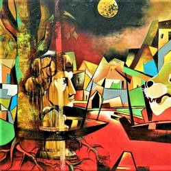 the code of life 3, 60 x 48 inch, rajeev sarkar,60x48inch,canvas,paintings,contemporary paintings,paintings for dining room,oil color,GAL02046736783