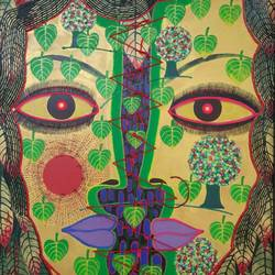 mother of nature, 20 x 26 inch, ashim karmakar,20x26inch,canvas,paintings,modern art paintings,mixed media,GAL02303736786