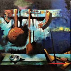 on the way to  my mother land, 96 x 48 inch, rajeev sarkar,96x48inch,canvas,paintings,contemporary paintings,paintings for dining room,oil color,GAL02046736788
