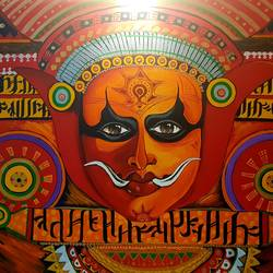 theyyam, 70 x 50 inch, silpa ajith,70x50inch,canvas,paintings,folk art paintings,paintings for living room,paintings for bedroom,paintings for office,paintings for hotel,paintings for school,acrylic color,GAL01584636802