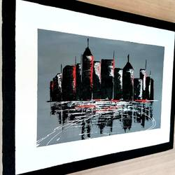 city skyline, 22 x 15 inch, mohit kumar,22x15inch,canvas,paintings,abstract paintings,figurative paintings,cityscape paintings,modern art paintings,conceptual paintings,photorealism,contemporary paintings,realistic paintings,paintings for dining room,paintings for living room,paintings for bedroom,paintings for office,paintings for hotel,paintings for school,acrylic color,GAL02360336811