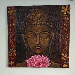 buddha painting, 24 x 24 inch, haritha gopisetty,24x24inch,canvas,paintings,buddha paintings,paintings for dining room,paintings for living room,paintings for office,paintings for kids room,paintings for hotel,paintings for school,paintings for hospital,acrylic color,GAL02133436818