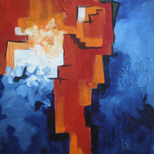 pangea volume -1, 12 x 18 inch, vignesh kumar,abstract paintings,paintings for office,canvas,acrylic color,12x18inch,GAL02503683