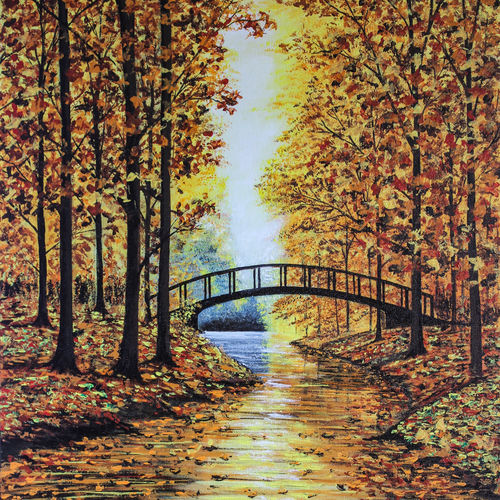 autumn landscape, 16 x 20 inch, suhas varpe,16x20inch,canvas board,paintings,landscape paintings,nature paintings   scenery paintings,photorealism,realism paintings,contemporary paintings,realistic paintings,paintings for dining room,paintings for living room,paintings for bedroom,paintings for office,paintings for bathroom,paintings for school,paintings for hospital,acrylic color,GAL01991536838
