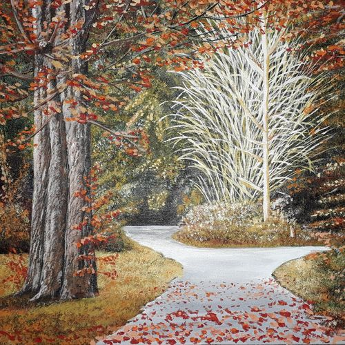 autumn landscape, 18 x 14 inch, suhas varpe,18x14inch,canvas board,paintings,landscape paintings,nature paintings | scenery paintings,realism paintings,contemporary paintings,paintings for dining room,paintings for living room,paintings for office,acrylic color,GAL01991536847