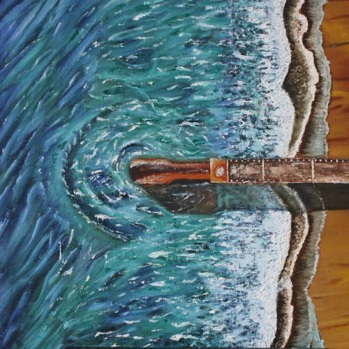 seascape from above, 24 x 16 inch, suhas varpe,24x16inch,canvas board,paintings,abstract paintings,landscape paintings,modern art paintings,nature paintings | scenery paintings,art deco paintings,illustration paintings,photorealism,realism paintings,contemporary paintings,paintings for dining room,paintings for living room,paintings for bedroom,paintings for office,oil color,GAL01991536848