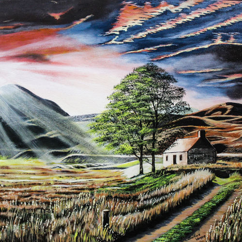 landscape - sunshine to tree, 20 x 16 inch, suhas varpe,20x16inch,canvas board,paintings,landscape paintings,nature paintings | scenery paintings,art deco paintings,expressionism paintings,photorealism,realism paintings,contemporary paintings,realistic paintings,paintings for dining room,paintings for living room,paintings for bedroom,paintings for office,paintings for hotel,acrylic color,GAL01991536851