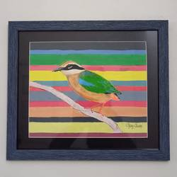 indian pitta painting , 12 x 11 inch, ajay  avate,12x11inch,paper,paintings,abstract paintings,wildlife paintings,realistic paintings,paintings for living room,paintings for bedroom,paintings for office,paintings for school,poster color,GAL02540536854