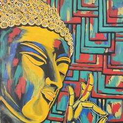 lord buddha abstract painting , 24 x 36 inch, dheeraj singh,24x36inch,canvas,paintings,abstract paintings,buddha paintings,religious paintings,abstract expressionism paintings,paintings for dining room,paintings for living room,paintings for bedroom,paintings for office,paintings for hotel,paintings for school,paintings for hospital,acrylic color,GAL02469836860