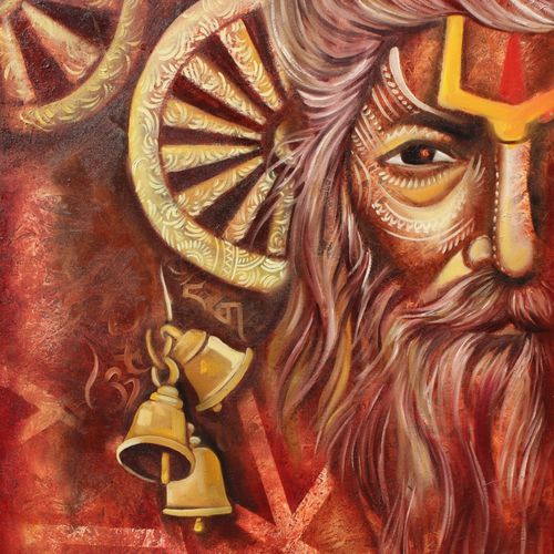 sadhu, 30 x 40 inch, aruna sharma,30x40inch,canvas,paintings,abstract paintings,modern art paintings,conceptual paintings,religious paintings,portrait paintings,art deco paintings,expressionism paintings,portraiture,realism paintings,surrealism paintings,realistic paintings,love paintings,lord shiva paintings,paintings for dining room,paintings for living room,paintings for bedroom,paintings for office,paintings for hotel,paintings for kitchen,paintings for hospital,acrylic color,oil color,GAL01442336865