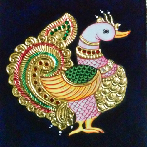 gift option , 10 x 8 inch, sreekrishnaarts giri,tanjore paintings,paintings for living room,ply board,24 carat gold foil,10x8inch,GAL013633689