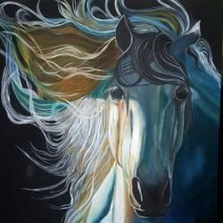 fearless , 24 x 30 inch, nidhi gupta,24x30inch,canvas,paintings,horse paintings,paintings for dining room,paintings for living room,paintings for bedroom,paintings for bathroom,paintings for kids room,paintings for hotel,paintings for school,paintings for hospital,oil color,GAL02487936918