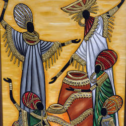 masai, 34 x 22 inch, meera mohan,34x22inch,canvas,paintings,figurative paintings,folk art paintings,foil paintings,abstract expressionism paintings,paintings for dining room,paintings for living room,paintings for bedroom,paintings for office,paintings for hotel,paintings for school,paintings for hospital,acrylic color,GAL02551136938