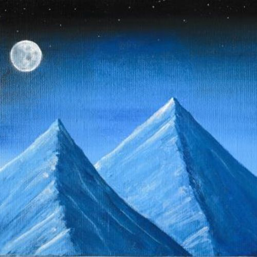 night mountain scenery with mooon, 10 x 8 inch, madhav sonkusare,10x8inch,canvas,landscape paintings,realism paintings,realistic paintings,paintings for dining room,paintings for living room,paintings for bedroom,paintings for office,paintings for hotel,paintings for dining room,paintings for living room,paintings for bedroom,paintings for office,paintings for hotel,acrylic color,GAL02530236951