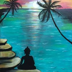 meditating buddha, 18 x 24 inch, pragati chitravanshi,18x24inch,canvas,paintings,buddha paintings,landscape paintings,religious paintings,nature paintings | scenery paintings,expressionism paintings,paintings for dining room,paintings for living room,paintings for office,paintings for hotel,paintings for school,paintings for dining room,paintings for living room,paintings for office,paintings for hotel,paintings for school,acrylic color,GAL02554636964