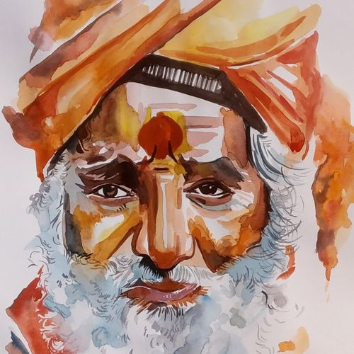 sadhu, 12 x 16 inch, aruna sharma,12x16inch,paper,paintings,abstract paintings,buddha paintings,wildlife paintings,figurative paintings,flower paintings,folk art paintings,foil paintings,cityscape paintings,landscape paintings,modern art paintings,multi piece paintings,conceptual paintings,religious paintings,still life paintings,portrait paintings,nature paintings | scenery paintings,abstract expressionism paintings,art deco paintings,photorealism,portraiture,realism paintings,surrealism paintings,water fountain paintings,warli paintings,lord shiva paintings,paintings for dining room,paintings for living room,paintings for bedroom,paintings for office,paintings for bathroom,paintings for kids room,paintings for hotel,paintings for kitchen,paintings for school,paintings for hospital,paintings for dining room,paintings for living room,paintings for bedroom,paintings for office,paintings for bathroom,paintings for kids room,paintings for hotel,paintings for kitchen,paintings for school,paintings for hospital,watercolor,GAL01442336982