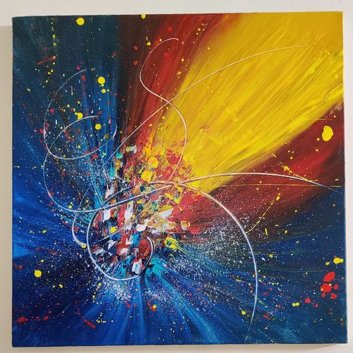 abstract vibrant wall hanging, 20 x 20 inch, mohit kumar,20x20inch,canvas,paintings,abstract paintings,modern art paintings,conceptual paintings,contemporary paintings,paintings for dining room,paintings for living room,paintings for bedroom,paintings for bathroom,paintings for kids room,paintings for hotel,paintings for school,acrylic color,GAL02360337013