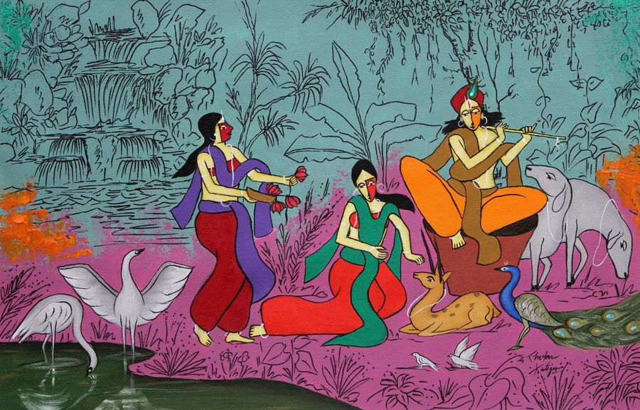govind, 24 x 16 inch, chetan katigar,24x16inch,canvas,paintings,abstract paintings,figurative paintings,flower paintings,folk art paintings,foil paintings,cityscape paintings,landscape paintings,modern art paintings,multi piece paintings,conceptual paintings,religious paintings,still life paintings,portrait paintings,nature paintings | scenery paintings,tanjore paintings,abstract expressionism paintings,art deco paintings,cubism paintings,expressionism paintings,illustration paintings,impressionist paintings,minimalist paintings,photorealism paintings,photorealism,pop art paintings,portraiture,realism paintings,street art,surrealism paintings,ganesha paintings | lord ganesh paintings,animal paintings,radha krishna paintings,contemporary paintings,realistic paintings,love paintings,mother teresa paintings,dog painting,elephant paintings,children paintings,kids paintings,lord shiva paintings,kalamkari painting,kerala murals painting,paintings for dining room,paintings for living room,paintings for bedroom,paintings for office,paintings for bathroom,paintings for kids room,paintings for hotel,paintings for kitchen,paintings for school,paintings for hospital,acrylic color,GAL026637027