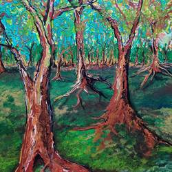 forest, 20 x 24 inch, sushmita banerjee,20x24inch,canvas,paintings,abstract paintings,landscape paintings,nature paintings | scenery paintings,acrylic color,GAL02461937036