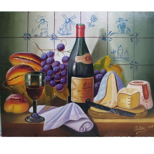 still life, 20 x 16 inch, shalini rawat,20x16inch,canvas board,paintings,still life paintings,paintings for dining room,paintings for hotel,paintings for kitchen,paintings for dining room,paintings for hotel,paintings for kitchen,oil color,GAL02566937069