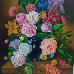 flower painting, 18 x 24 inch, shalini rawat,18x24inch,canvas board,paintings,flower paintings,paintings for living room,paintings for bedroom,paintings for office,paintings for hotel,oil color,GAL02566937074