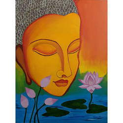 buddha, 18 x 24 inch, tejashri dhoot,18x24inch,canvas,buddha paintings,paintings for dining room,paintings for living room,paintings for office,paintings for hotel,paintings for school,paintings for hospital,paintings for dining room,paintings for living room,paintings for office,paintings for hotel,paintings for school,paintings for hospital,acrylic color,GAL02557237075