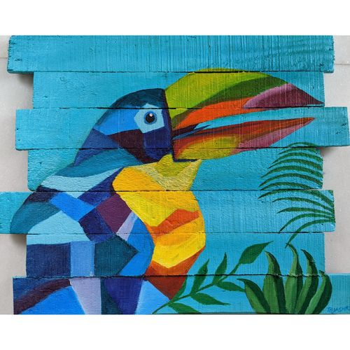 tropical, 20 x 17 inch, tejashri dhoot,20x17inch,wood board,paintings,abstract paintings,paintings for dining room,paintings for living room,paintings for bedroom,paintings for office,paintings for bathroom,paintings for kids room,paintings for hotel,paintings for kitchen,paintings for school,paintings for hospital,acrylic color,GAL02557237078