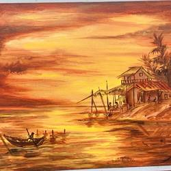 wildfire glaze , 14 x 18 inch, sangeeta  sinha,14x18inch,canvas,landscape paintings,nature paintings | scenery paintings,minimalist paintings,paintings for dining room,paintings for living room,paintings for office,paintings for school,paintings for dining room,paintings for living room,paintings for office,paintings for school,acrylic color,oil color,GAL02568037083