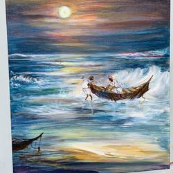 the stormy night, 16 x 20 inch, sangeeta  sinha,16x20inch,canvas,paintings,cityscape paintings,landscape paintings,conceptual paintings,nature paintings | scenery paintings,expressionism paintings,paintings for living room,paintings for bedroom,paintings for bathroom,paintings for hotel,paintings for kitchen,paintings for school,acrylic color,oil color,GAL02568037086