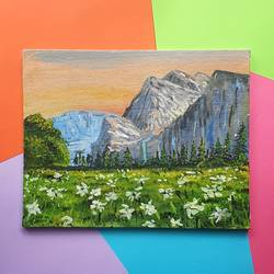yosemite national park, 8 x 10 inch, harsha khanchandani ,8x10inch,canvas,paintings,abstract paintings,flower paintings,cityscape paintings,landscape paintings,modern art paintings,conceptual paintings,abstract expressionism paintings,photorealism paintings,realism paintings,realistic paintings,children paintings,acrylic color,GAL02500837088