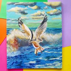 seagull, 10 x 12 inch, harsha khanchandani ,10x12inch,canvas,paintings,abstract paintings,landscape paintings,modern art paintings,multi piece paintings,conceptual paintings,nature paintings | scenery paintings,expressionism paintings,impressionist paintings,realism paintings,animal paintings,paintings for dining room,paintings for living room,paintings for bedroom,paintings for office,paintings for bathroom,paintings for kids room,paintings for hotel,paintings for kitchen,paintings for school,paintings for hospital,acrylic color,GAL02500837090