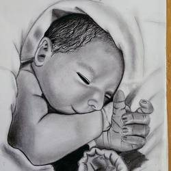 baby drawing, 9 x 12 inch, niket busa,9x12inch,drawing paper,drawings,portrait drawings,realism drawings,paintings for dining room,paintings for living room,paintings for bedroom,charcoal,paper,GAL02545737091